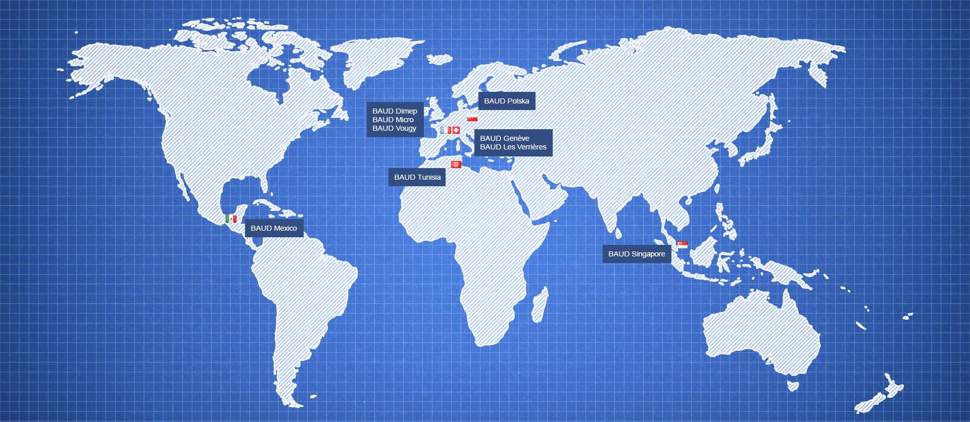 BAUD Industries   World Map - BAUD Industries