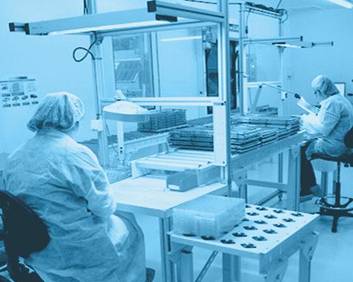 Salle grise avec concentration particulaire maitrisée